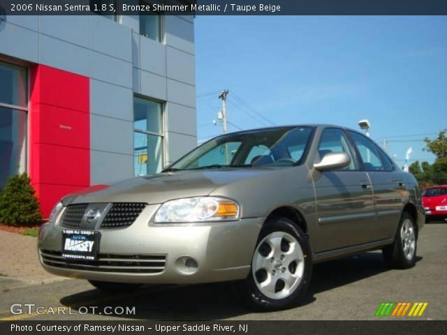 bronze shimmer metallic 2006 nissan sentra 1 8 s taupe beige interior. Black Bedroom Furniture Sets. Home Design Ideas
