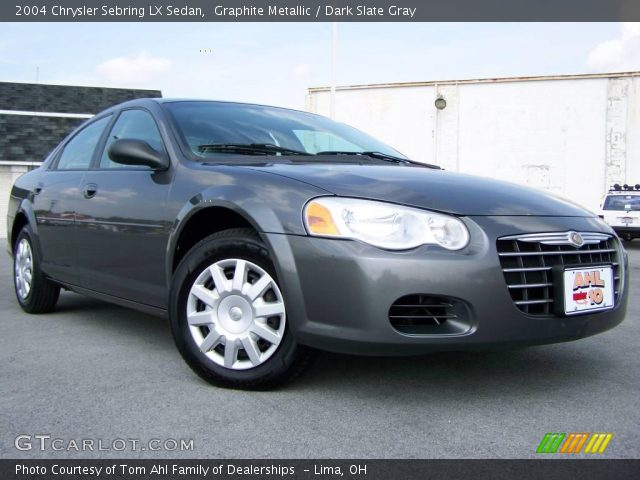 graphite metallic 2004 chrysler sebring lx sedan dark. Black Bedroom Furniture Sets. Home Design Ideas
