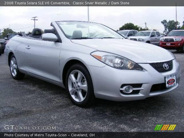 classic silver metallic 2008 toyota solara sle v6 convertible dark stone interior gtcarlot. Black Bedroom Furniture Sets. Home Design Ideas