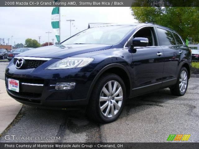 stormy blue mica 2008 mazda cx 9 grand touring awd black interior vehicle. Black Bedroom Furniture Sets. Home Design Ideas
