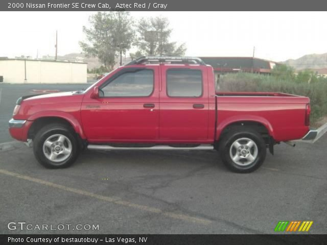 aztec red 2000 nissan frontier se crew cab gray interior vehicle archive. Black Bedroom Furniture Sets. Home Design Ideas