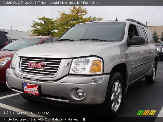 liquid silver metallic 2006 gmc envoy xl slt 4x4 ebony. Black Bedroom Furniture Sets. Home Design Ideas