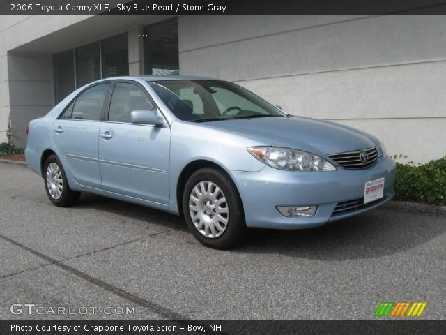 sky blue pearl 2006 toyota camry xle stone gray interior vehicle archive. Black Bedroom Furniture Sets. Home Design Ideas
