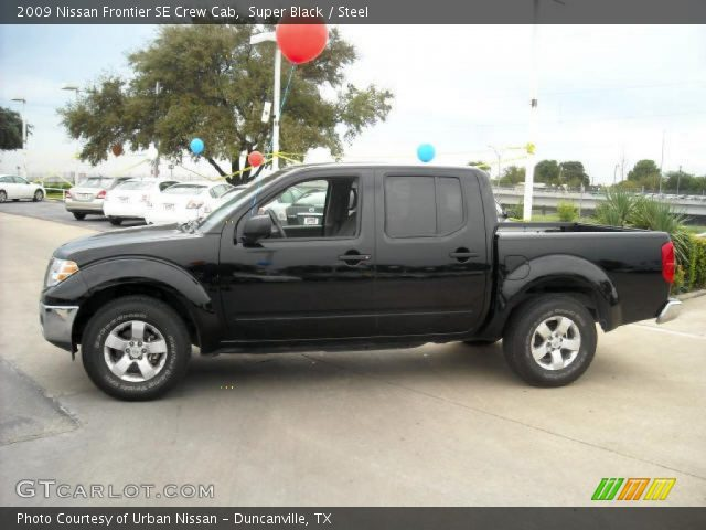 super black 2009 nissan frontier se crew cab steel interior vehicle archive. Black Bedroom Furniture Sets. Home Design Ideas
