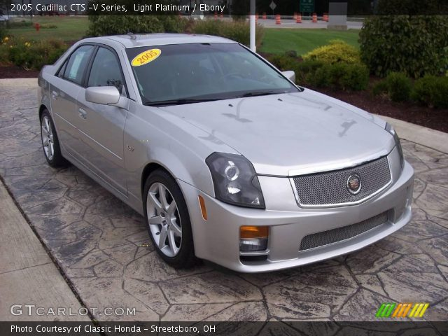 light platinum 2005 cadillac cts v series ebony interior vehicle archive. Black Bedroom Furniture Sets. Home Design Ideas