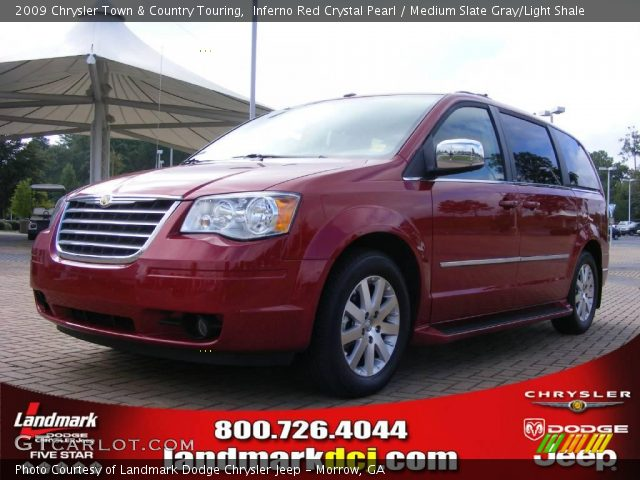 inferno red crystal pearl 2009 chrysler town country touring medium slate gray light shale. Black Bedroom Furniture Sets. Home Design Ideas