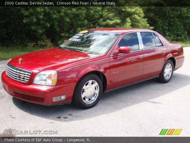 crimson red pearl 2000 cadillac deville sedan neutral. Cars Review. Best American Auto & Cars Review
