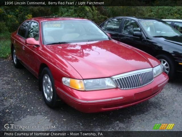 berry red pearl 1996 lincoln continental light parchment interior vehicle. Black Bedroom Furniture Sets. Home Design Ideas