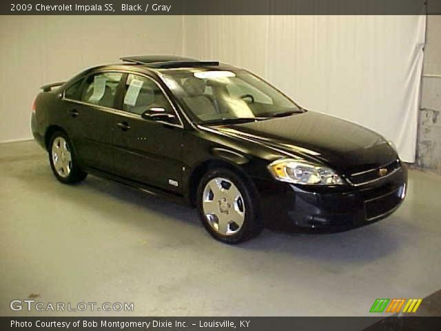 black 2009 chevrolet impala ss gray interior. Black Bedroom Furniture Sets. Home Design Ideas