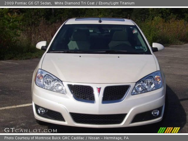 2009 Pontiac G6 GT Sedan in White Diamond Tri Coat