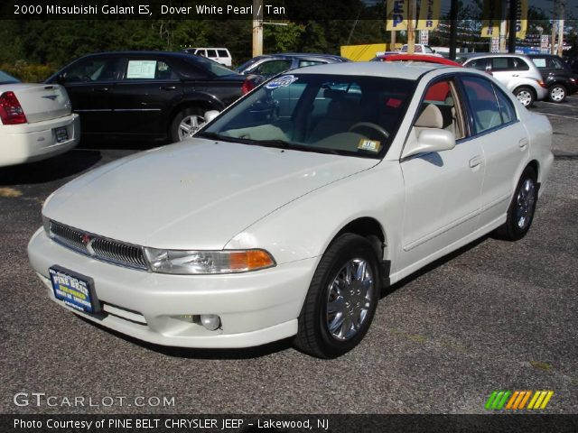 Dover White Pearl 2000 Mitsubishi Galant ES with Tan interior 2000