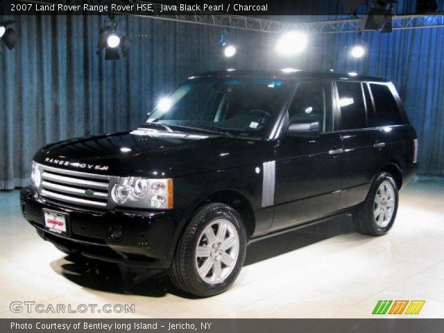 java black pearl 2007 land rover range rover hse charcoal interior vehicle. Black Bedroom Furniture Sets. Home Design Ideas