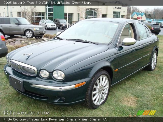 british racing green 2005 jaguar x type 3 0 vdp ivory interior vehicle. Black Bedroom Furniture Sets. Home Design Ideas