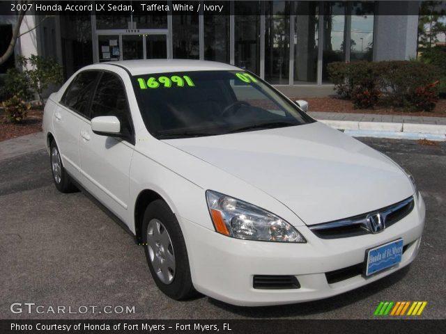 Taffeta white 2007 honda accord lx sedan ivory for 2007 honda accord lx sedan