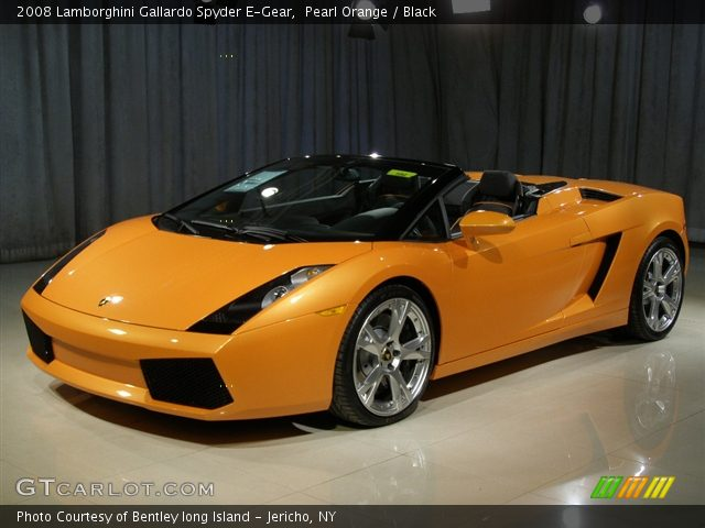 2008 Lamborghini Gallardo Spyder E-Gear in Pearl Orange
