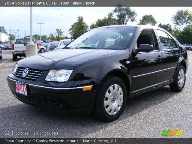 black 2004 volkswagen jetta gl tdi sedan black. Black Bedroom Furniture Sets. Home Design Ideas