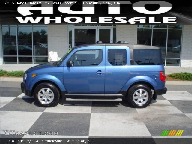 atomic blue metallic 2006 honda element ex p awd gray. Black Bedroom Furniture Sets. Home Design Ideas
