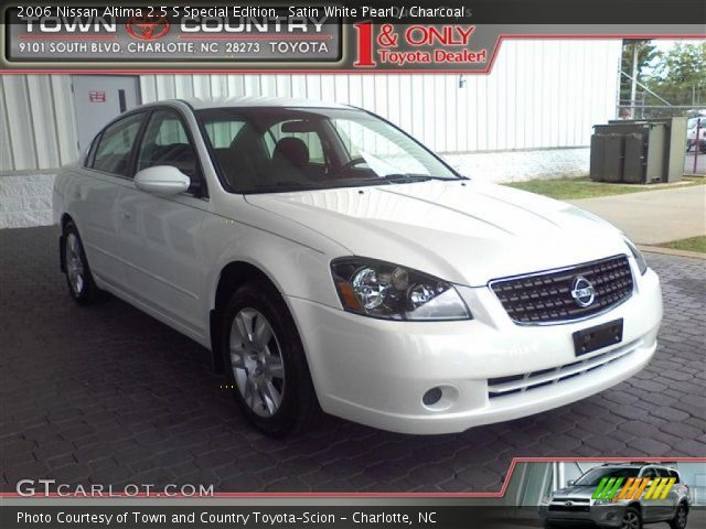 satin white pearl 2006 nissan altima 2 5 s special edition charcoal interior. Black Bedroom Furniture Sets. Home Design Ideas