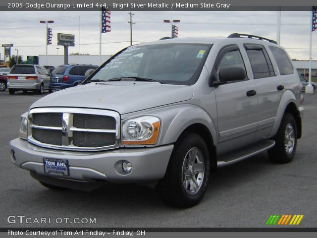 bright silver metallic 2005 dodge durango limited 4x4. Black Bedroom Furniture Sets. Home Design Ideas
