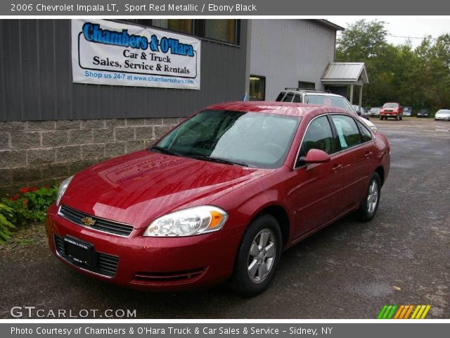 sport red metallic 2006 chevrolet impala lt ebony. Black Bedroom Furniture Sets. Home Design Ideas