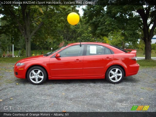 volcanic red 2008 mazda mazda6 i sport hatchback gray. Black Bedroom Furniture Sets. Home Design Ideas