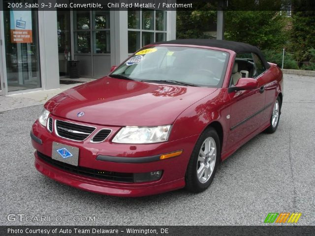 chili red metallic 2005 saab 9 3 aero convertible parchment interior. Black Bedroom Furniture Sets. Home Design Ideas
