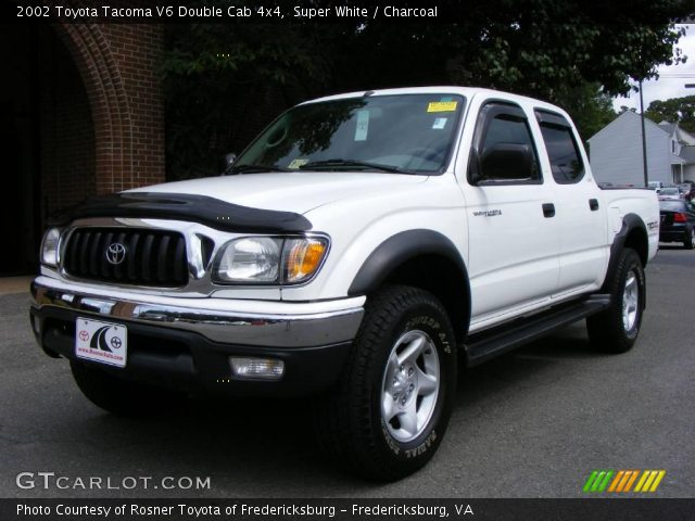 super white 2002 toyota tacoma v6 double cab 4x4 charcoal interior vehicle. Black Bedroom Furniture Sets. Home Design Ideas