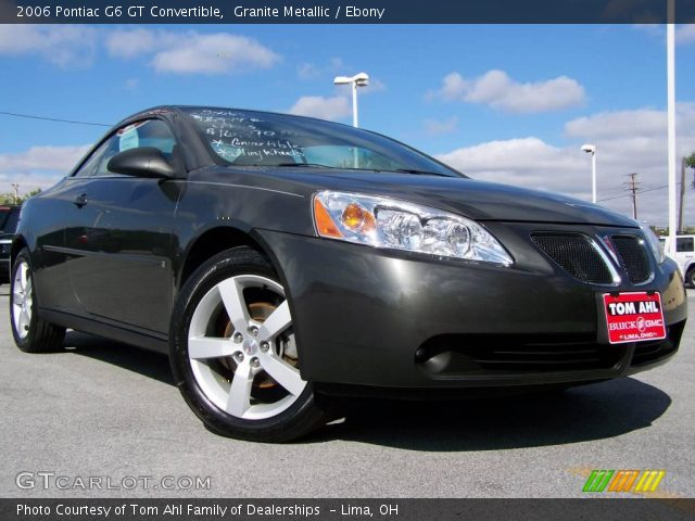 2006 Pontiac G6 GT Convertible in Granite Metallic. Click to see large ...