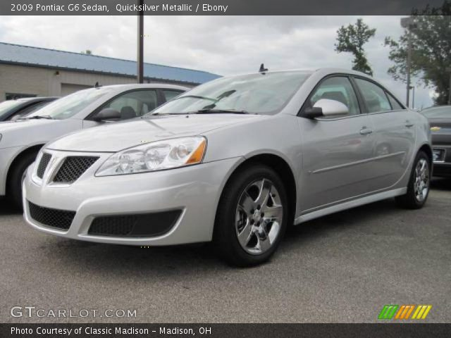 2009 Pontiac G6 Sedan in Quicksilver Metallic