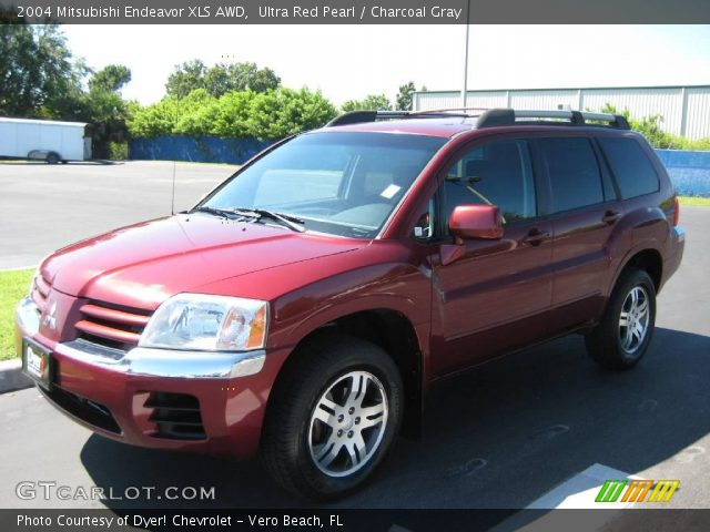 Ultra Red Pearl 2004 Mitsubishi Endeavor Xls Awd Charcoal Gray Interior