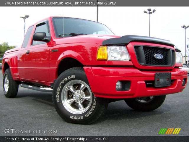 bright red 2004 ford ranger edge supercab 4x4 black gray interior vehicle. Black Bedroom Furniture Sets. Home Design Ideas