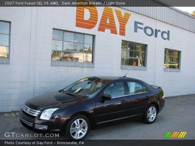 dark amethyst metallic 2007 ford fusion sel v6 awd light stone interior. Black Bedroom Furniture Sets. Home Design Ideas