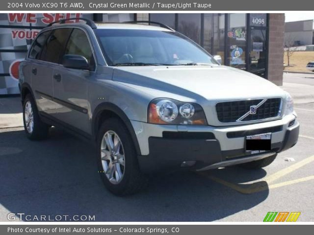 crystal green metallic 2004 volvo xc90 t6 awd taupe light taupe interior. Black Bedroom Furniture Sets. Home Design Ideas