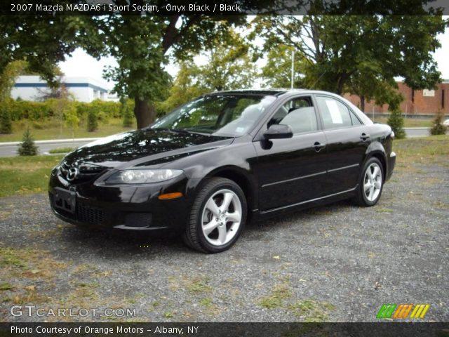 onyx black 2007 mazda mazda6 i sport sedan black interior vehicle archive. Black Bedroom Furniture Sets. Home Design Ideas
