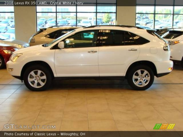 crystal white 2008 lexus rx 350 awd ivory interior vehicle archive 19011570. Black Bedroom Furniture Sets. Home Design Ideas