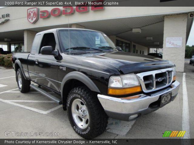 2000 ford ranger xlt supercab 4x4 in black - 2000 Ford Ranger Black