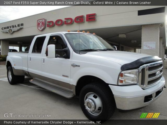 F350 Dually Towing Capacity >> Oxford White - 2007 Ford F350 Super Duty King Ranch Crew ...