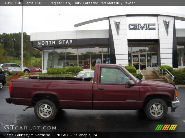 dark toreador red metallic 1998 gmc sierra 1500 sl. Black Bedroom Furniture Sets. Home Design Ideas