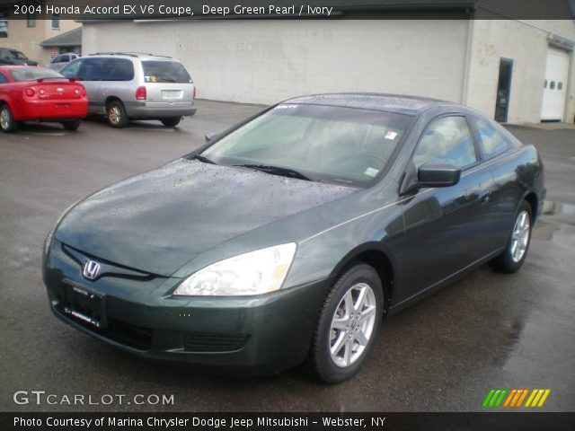 deep green pearl 2004 honda accord ex v6 coupe ivory interior vehicle. Black Bedroom Furniture Sets. Home Design Ideas