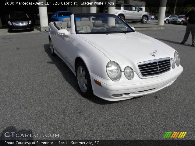 glacier white 2000 mercedes benz clk 320 cabriolet ash interior vehicle. Black Bedroom Furniture Sets. Home Design Ideas