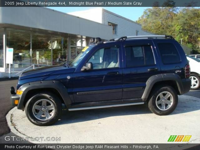 midnight blue pearl 2005 jeep liberty renegade 4x4 medium slate gray interior. Black Bedroom Furniture Sets. Home Design Ideas