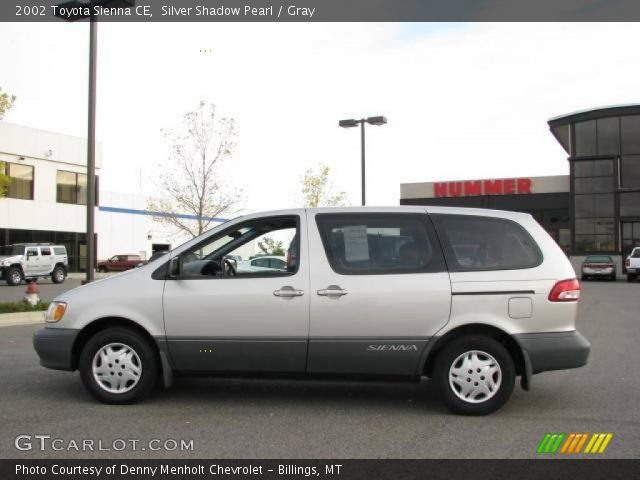 silver shadow pearl 2002 toyota sienna ce gray. Black Bedroom Furniture Sets. Home Design Ideas