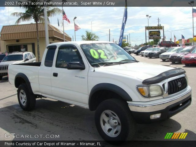 super white 2002 toyota tacoma prerunner xtracab gray interior vehicle. Black Bedroom Furniture Sets. Home Design Ideas