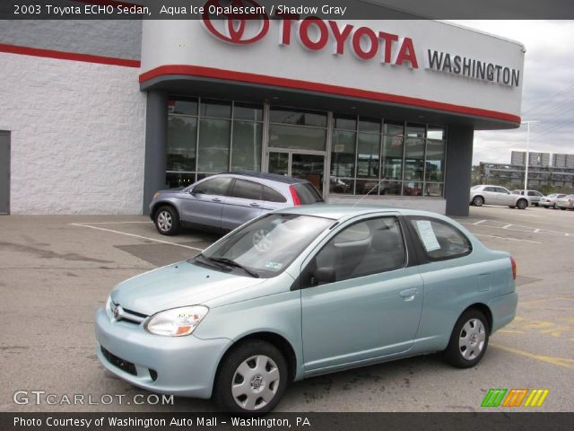 Aqua Ice Opalescent - 2003 Toyota ECHO Sedan - Shadow Gray Interior ...