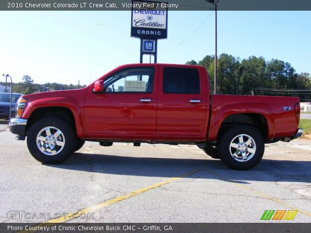 victory red 2010 chevrolet colorado lt crew cab ebony. Black Bedroom Furniture Sets. Home Design Ideas
