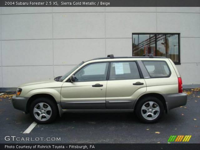 sierra gold metallic 2004 subaru forester 2 5 xs beige interior vehicle. Black Bedroom Furniture Sets. Home Design Ideas