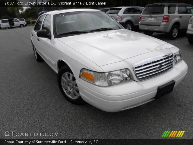 vibrant white 2007 ford crown victoria lx light camel. Black Bedroom Furniture Sets. Home Design Ideas