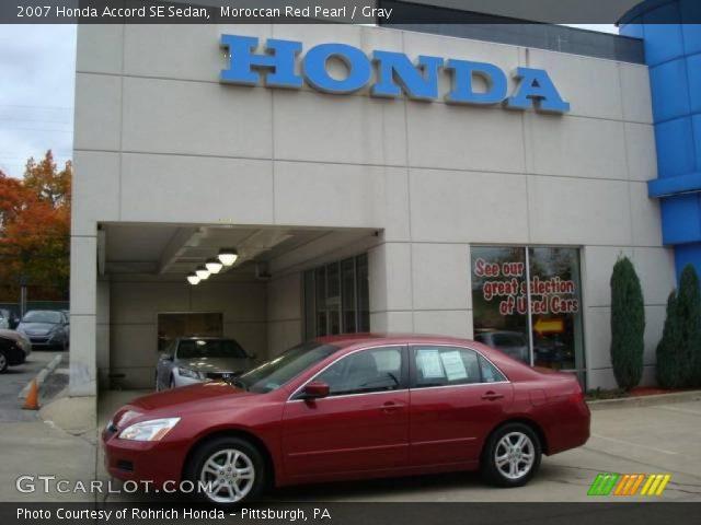 2007 Honda Accord SE Sedan in Moroccan Red Pearl