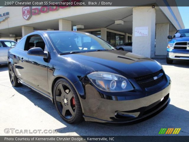 black 2007 chevrolet cobalt ss supercharged coupe ebony interior vehicle. Black Bedroom Furniture Sets. Home Design Ideas