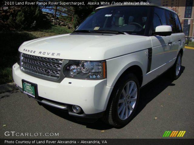 Alaska White 2010 Land Rover Range Rover Supercharged Ivory White Jet Black Interior